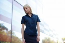 Dámská popelínová košile kr.rukáv Lady-Fit Short Sleeve Poplin Shirt - zvětšit obrázek