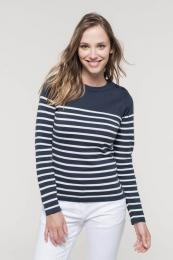 Dámský pruhovaný svetr