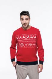 Vánoční svetr unisex se sobi